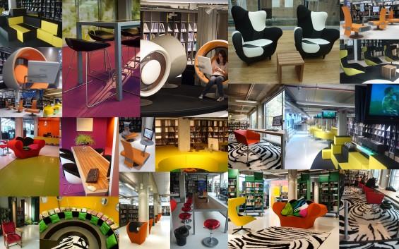 Kursi-kursi keren dan nyaman di DOK library