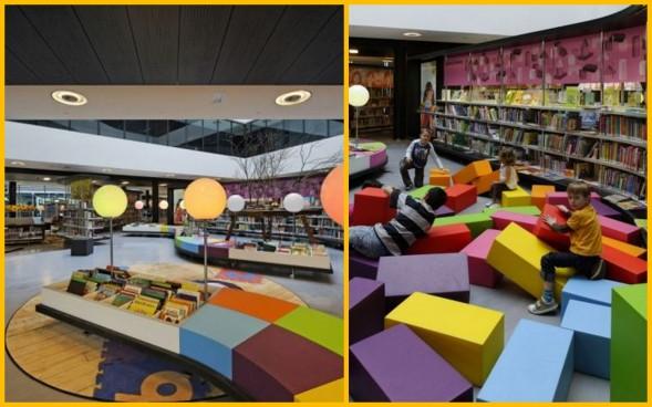 Tempat bermain akan di Almere Library