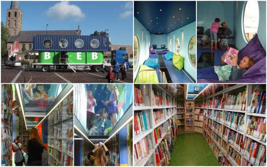 BiebBus: kontainer yang dialihfungsikan sebagai perpustakaan